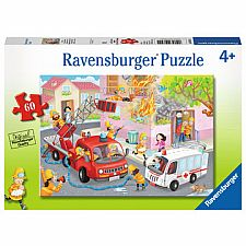 Firefighter Rescue - 60 Piece Puzzle