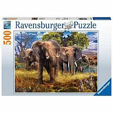 Elephants - 500 Piece
