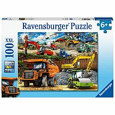 Construction Vehicles - 100 Piece