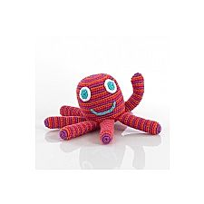 Dark Pink Octopus Rattle