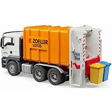 MAN TGS Rear Loading Garbage Truck orange
