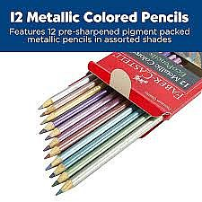 12 Metallic Colored Pencils