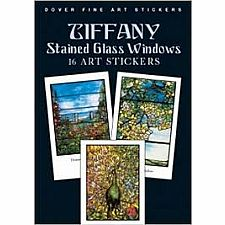 16 Tiffany Window Art Stickers