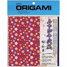 Blossoms & Maple Leaves Origami Paper