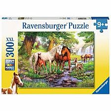 Horses by the Stream - 300 Pieces